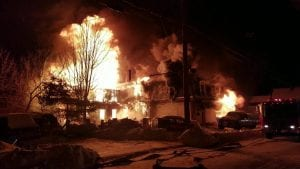 Corinth, NY – Two People Hospitalized Following House Fire